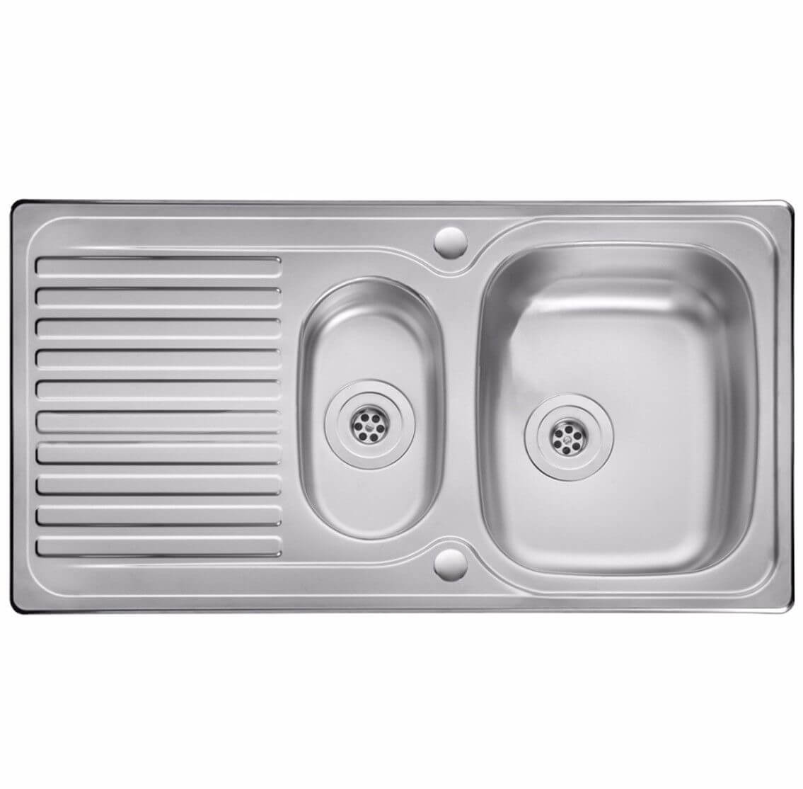 Leisure 1.5 Bowl 1 Tap Hole Reversible Kitchen Sink 950mm x 508mm ...