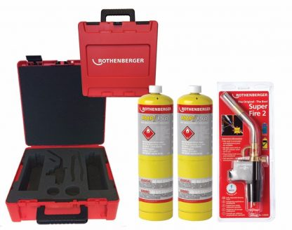 Rothenberger - Plumbers HotBox with Tools - Superfire 2 Torch & 2 Mapp Gas
