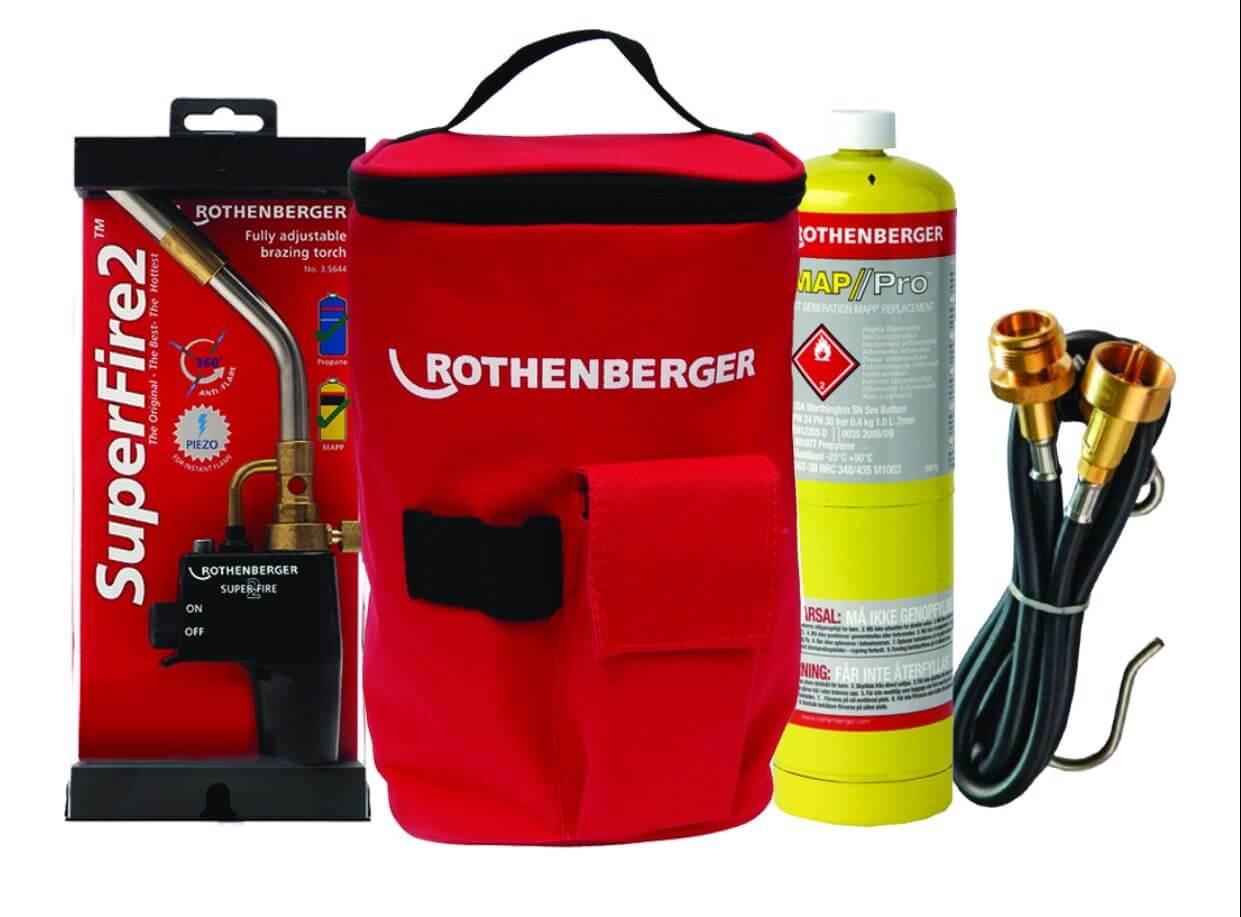 Rothenberger Plumbers Hot Bag Propane Mapp Extension Hose Kit