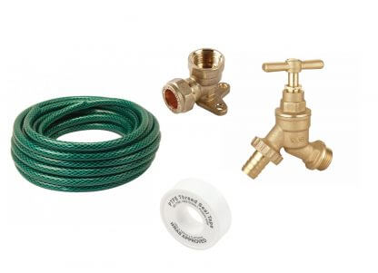Outdoor Garden Tap Kit with 15m Hose
